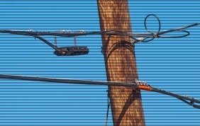 Aerial cable pole