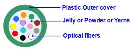Diagram of 12F loose fiber tube fiber optic mania Social Network FOMSN